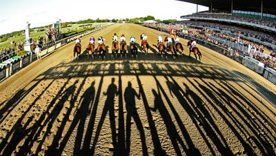 The start of the 2014 Belmont Stakes at Belmont Park.