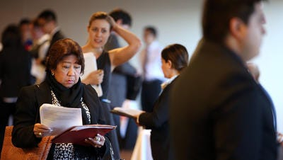 Job fairs have been busy as employers struggled to hire workers in a tight labor market.
