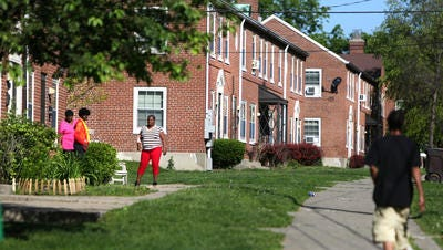 A view of apartments in Winton Terrace. Winton Terrace was started in 1939. Cincinnati Metropolitan Housing Authority is considering following a national trend and getting rid of public housing over the next 5-10 years.