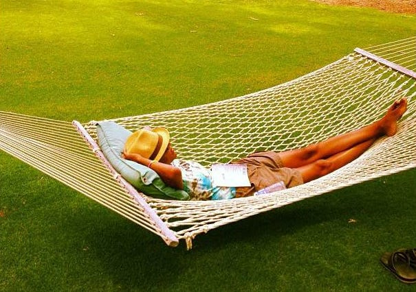 Robin Roberts takes a moment to relax in Maui.