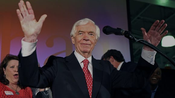 """<p><b>June 24: </b><a href=""""http://www.clarionledger.com/story/news/politics/2014/06/24/cochran-defeats-mcdaniel/11341509/"""">Cochran wins runoff against McDaniel</a> by less than 2 percent. McDaniel doesn't concede, referencing """"dozens of irregularities"""" in voting results. </p>"""