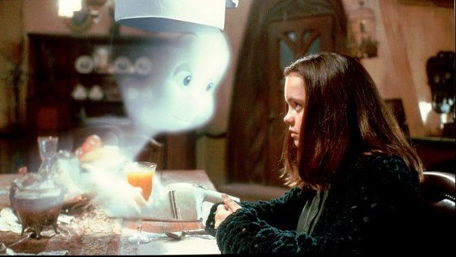 1995 - Casper befriends Kat Harvey (Christina Ricci) in the movie Casper.