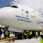 A 787 Dreamliner made at The Boeing Co.'s aircraft plant in North Charleston.