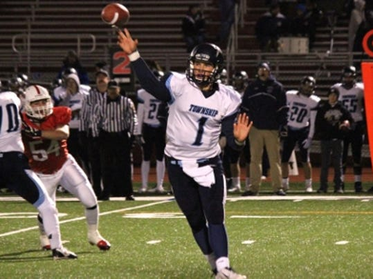 Manheim Township quarterback Erik Benjamin (1) believes his team will be a force to be reckoned with if they play up to their potential in 2015.