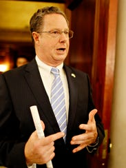 Pennsylvania State Rep. Stan Saylor reacts to Gov.