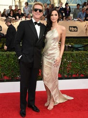 Matthew Modine, left, and Ruby Modine arrive at the