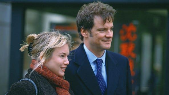 Rene Zellweger as Bridget Jones and Colin Firth as