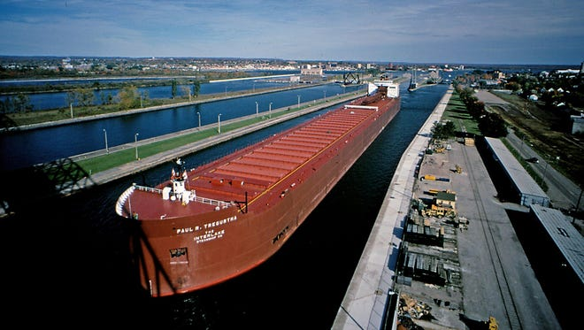 The 1,013-foot-long Paul R. Tregurtha freighter. Detroit Free Press photographer Eric Seals and reporter Jim Schaefer will be spending six days on this ship writing about and showing life aboard the longest ship that sails the Great Lakes.