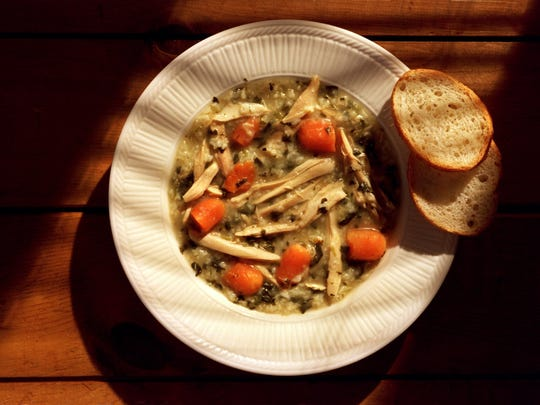 Winter Chicken Vegetable Soup with Spaetzle
