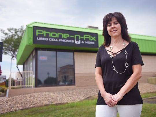 Jill Solberg, owner of Phone-N-Fix located at 3800