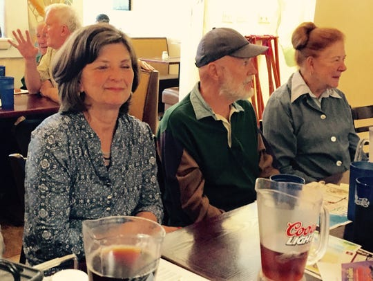 In this May 19, 2016 photo, from left, Peggy Kelly
