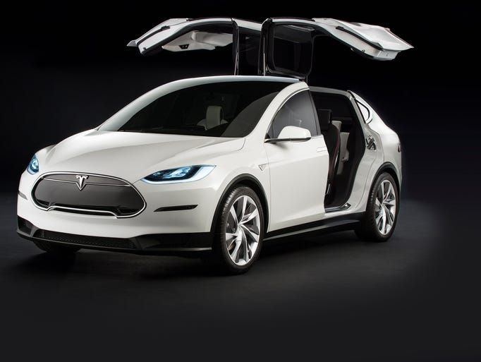 Tesla's Model X is distinguished by its gull-wing doors