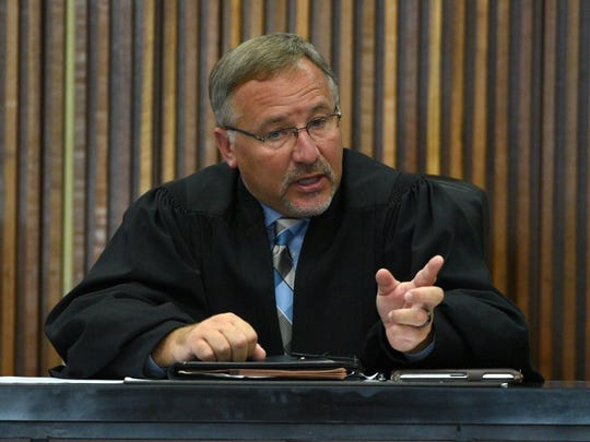 8th Judicial District Criminal Court Judge Shayne Sexton, shown here on the bench on Aug. 27, 2015.
