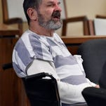 Frazier Glenn Miller attends his a competency hearing in December in Olathe, Kan.