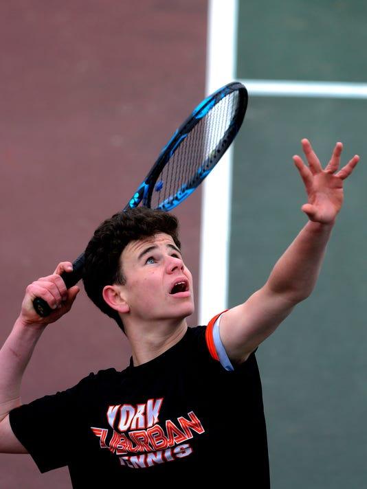 Red Land at York Suburban boys' tennis scrimmage