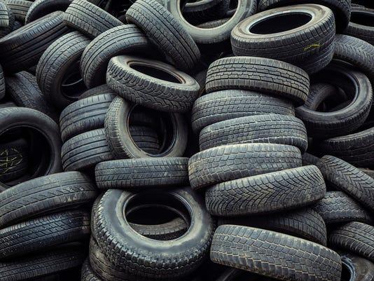 car tires pile