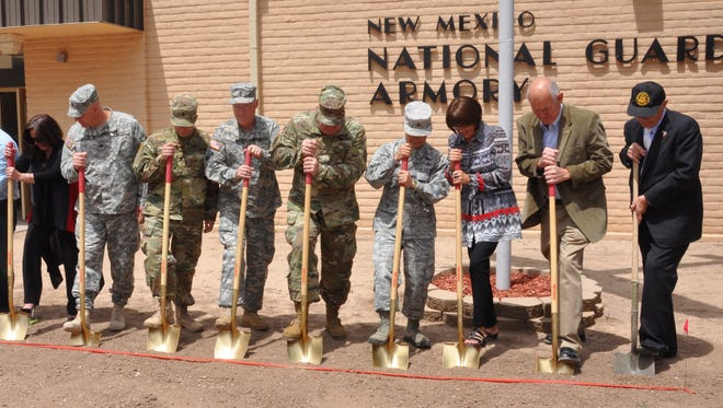 The New Mexico National Guard hosted a groundbreaking ceremony for their new Alamogordo facility Wednesday.