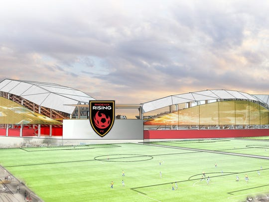 A rendering of the new stadium for the Phoenix Rising