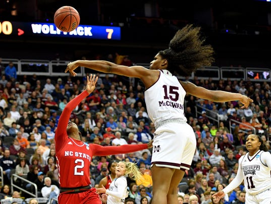 NCAA Womens Basketball: NCAA Tournament-Kansas City Regiona-Mississippi State vs North Carolina State