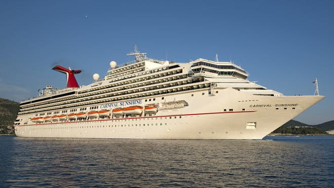 A Carnival Cruise Lines ship. Or is it a Carnival Cruise Line ship?