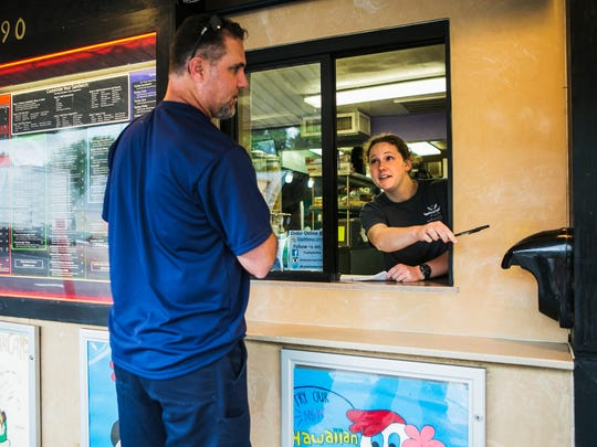 May 12, 2017 - Erin Tice helps a customer, who didn't