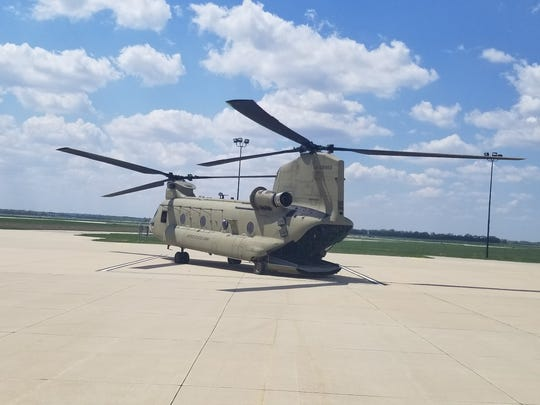 An Iowa National Guard helicopter assisted police Wednesday