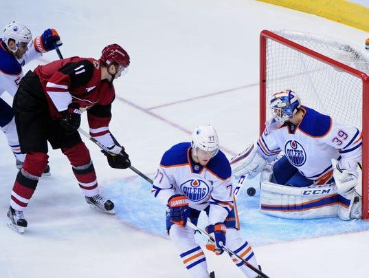 NHL: Edmonton Oilers at Arizona Coyotes