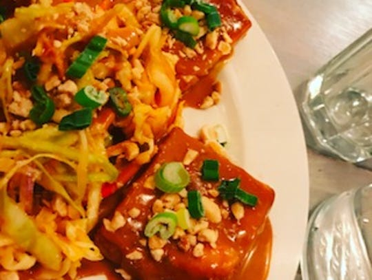 Tofu Satay is a featured dish at the Garden Cafe in