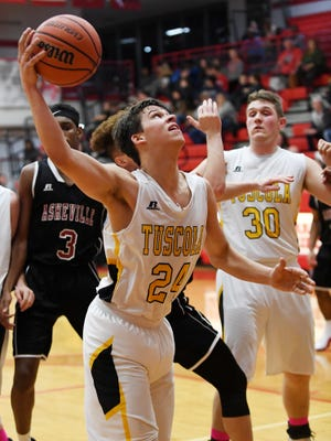 Tuscola defeated Asheville 68-55 in the Western Mountain Athletic Conference tournament February 13, 2018 at Erwin High School.