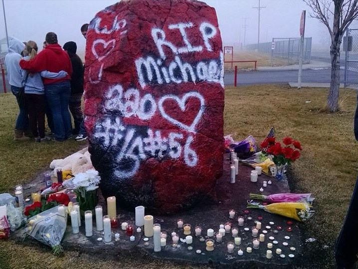 A memorial has been set up for a Filer High School teen who died in a head-on crash Saturday.