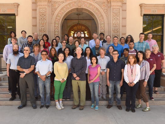 NMSU biology department members gather for a group