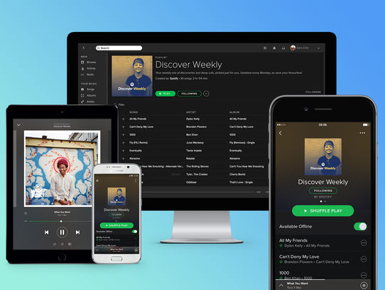 Of course you know you can listen to Spotify on all