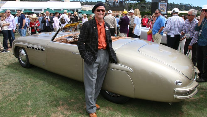 Chris Ohrstrom, from The Plains, Virginia at the Pebble Beach Concours d'Elegance in Pebble Beach with his 1946 Alfa Romeo