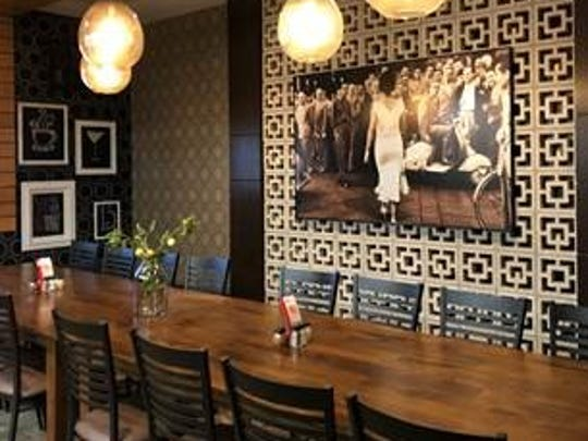 Babbo Italian Eatery's private dining room, called
