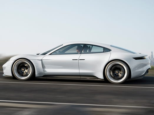 Porsche has introduced its Mission E electric prototype,