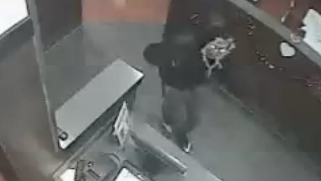 ECSO is searching for a suspect they say robbed a Krystal restaurant on Mobile Highway.