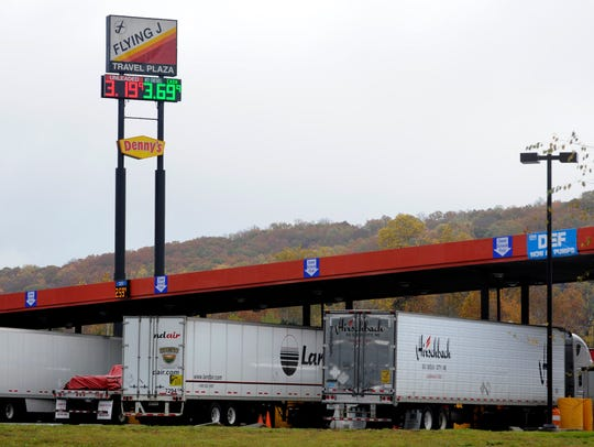 A Pilot Flying J travel center is shown on Watt Road