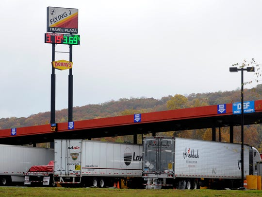 A Pilot Flying J travel center is shown on Watt Road at the Interstate 40-75 interchange Nov. 4, 2011.