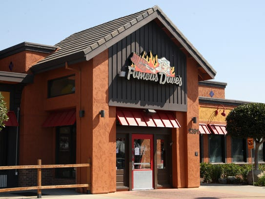 Famous Dave's closed its Salinas store on Monday, Sept.11,