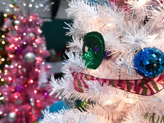 A detail of one of the Christmas trees that will be on display at the Trees and Treasures, to benefit the Children's Advocacy Center and CASA Wednesday. The event will be held Friday 4-7 p.m. at the Henderson Presbyterian Church's Hoffman Hall, November 8, 2017.