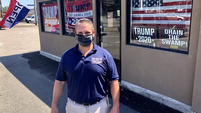 Keith Lambert has opened his latest New England for Trump store on Route 6 in Somerset.