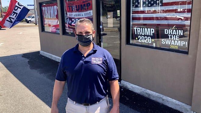 Keith Lambert, of Easton, has opened his latest New England for Trump store on Route 6 in Somerset.