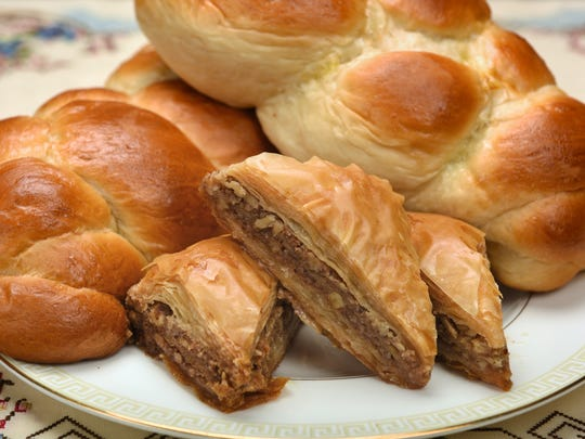 The annual Greek Pastry Sale has is baklava base, but expands with new offerings for the coming holidays, such as the braided sweet bread, tsoureki.