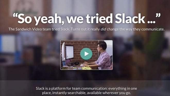 A screenshot of the website Slack.