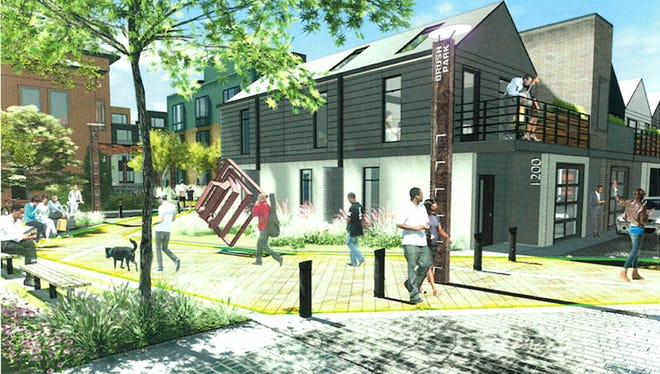 The Brush Park neighborhood development plan includes affordable mixed housing.
