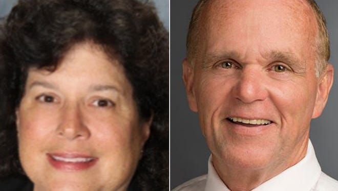 Cathy Frank and Donald Scheg are running for Rush town supervisor.