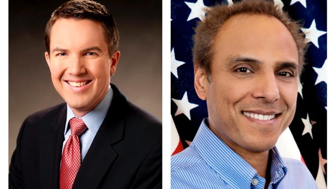 David Bobzien, left; and Sam Kumar are running for Reno City Council's at-large seat.