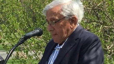 Martus Granirer of New City, speaking during an April 2016 ceremony at which he was honored for his advocacy of conservation.