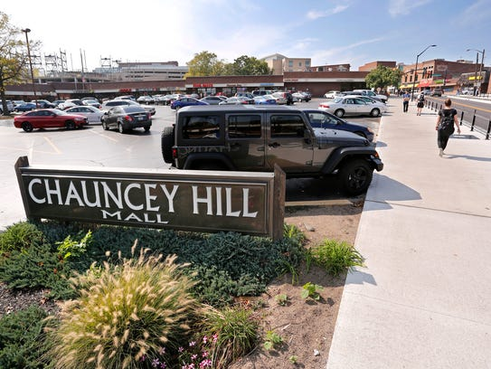 The Chauncey Hill Mall sits on 2.5 acres at the top