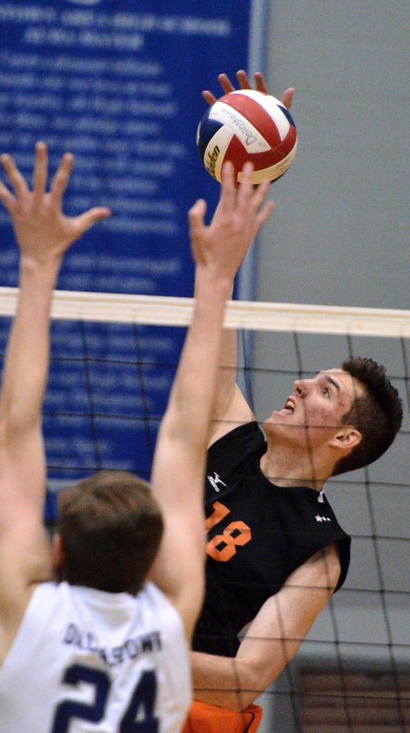 Cole Johnson delivered the game-winning kill for Central
